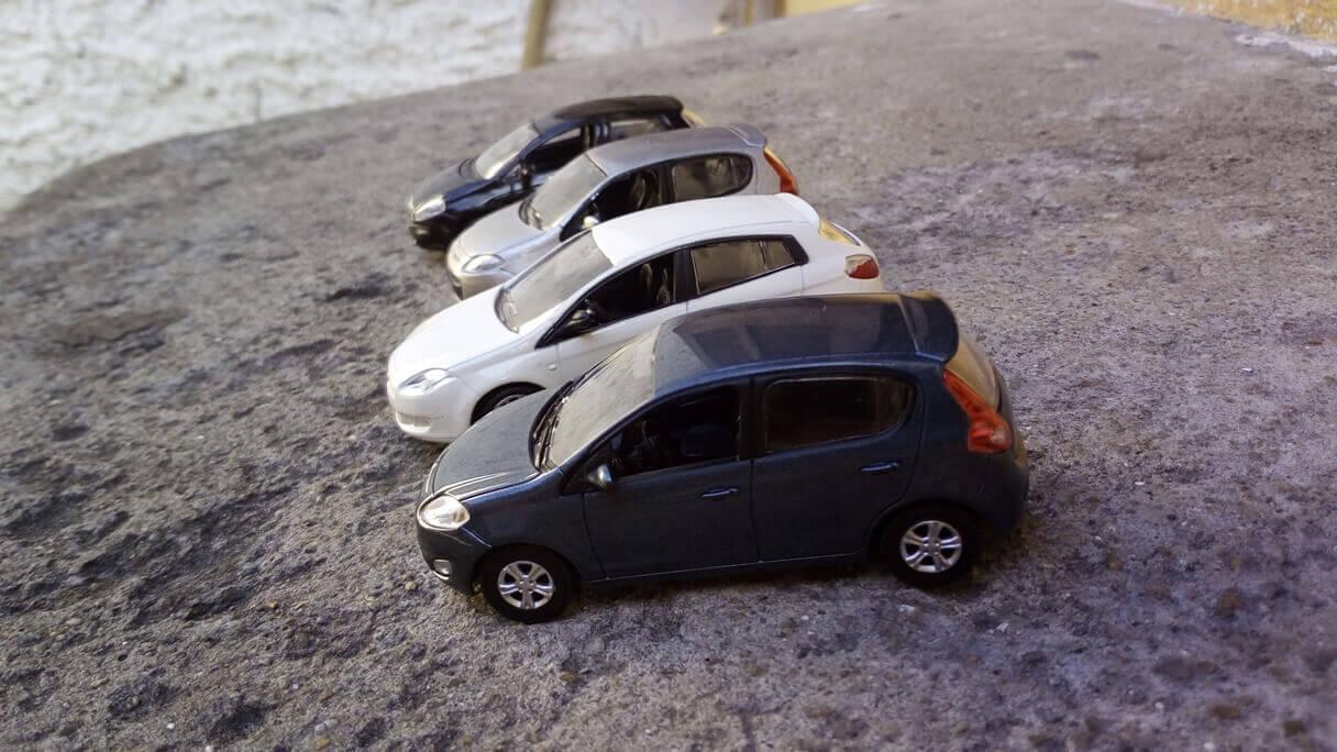 Fotos de miniaturas de carrinhos feitas com o celular Vernee Thor
